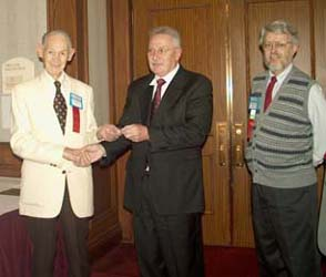Presentation of special Convention medal for attendance at 51 consecutive C.N.A. conventions