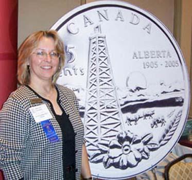 Michelle Grant designer of the Alberta Centennial Quarter