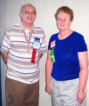 Dan Gosling, current C.N.A. Librarian; Carol Gregory, former C.N.A. Librarian