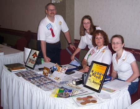 Serge Pelletier and family at the Eligi Consultants table