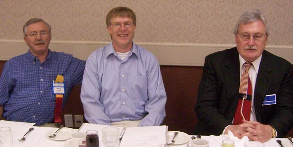 Dick Dunn, Harold Brown and Charles Moore at the Head Table at the Canadian Paper Money Society Luncheon