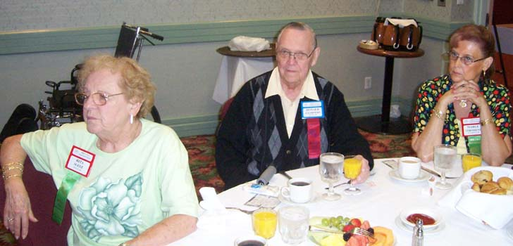 (left to right) Rita Sledz, Wayne Coin Club ; Don Charter, Lincoln Coin Club; Margaret Stroshine, Downriver Numismatic Association