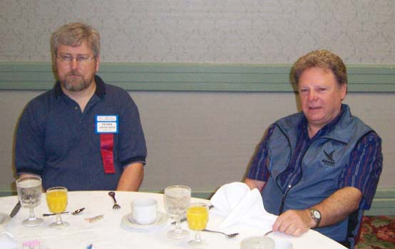 (left to right) Terry Ainsworth, Almonte Coin Club; Howard Gilbey, Edmonton Numismatic Society, editor of