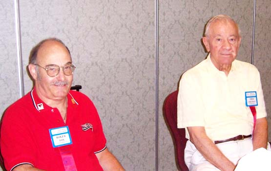 (left to right) Roger Fox, Canadian Tire Coupon Collectors Club; Fred Freeman, Woodstock Ontario Coin Club