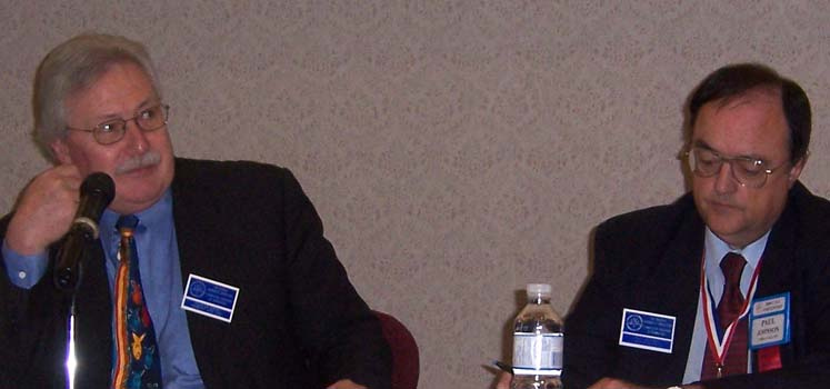 Charles Moore, President C.N.A. and Paul Johnson, Executive Secretary at the Annual General Meeting