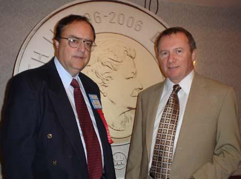 Paul Johnson, C.N.A. Executive Secretary and Ian Bennett , President of the Royal Canadian Mint