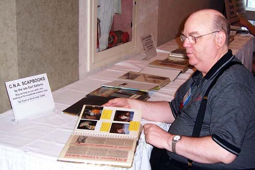 Stan Clute enjoying the C.N.A. Convention Scrapbooks