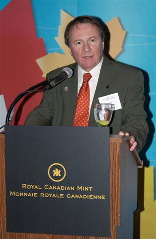 Ian Bennett , President of the Royal Canadian Mint