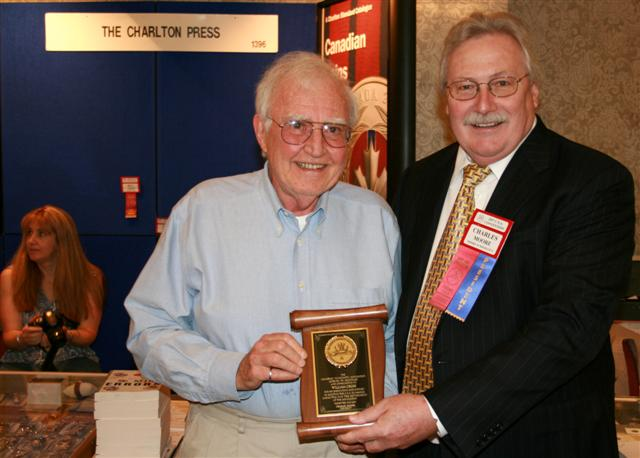 Bill Cross receiving a Presidential Award for his ongoing support of the C.N.A.