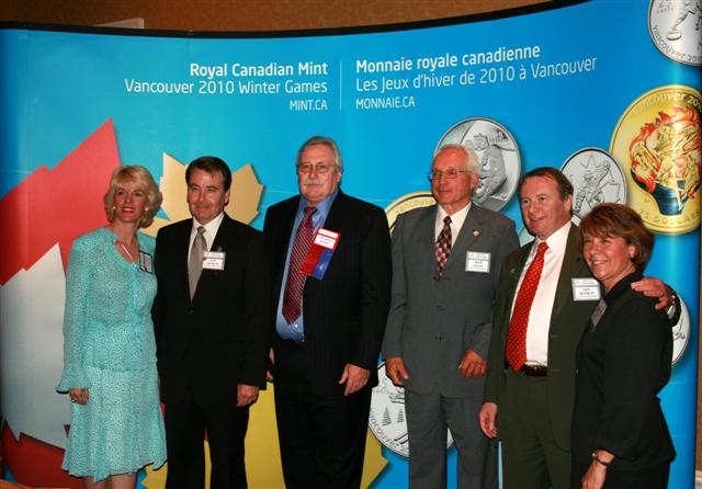 Manon Laplante, Ian Graham, Charles Moore, Max Lewis, Ian Bennett and Beverly Lepine