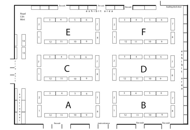 2008 C.N.A. Convention Ottawa Bourse Floor Plan