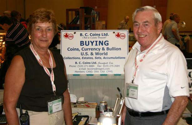 Carole and Bob Dowsett , B.C. Coins Ltd.