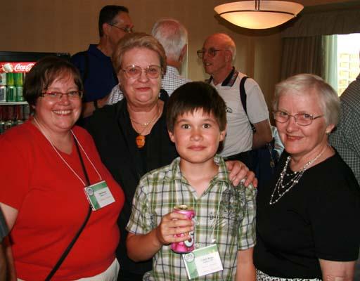 Patti Brace, Lilian Esler and Caleb and Dorte Brace