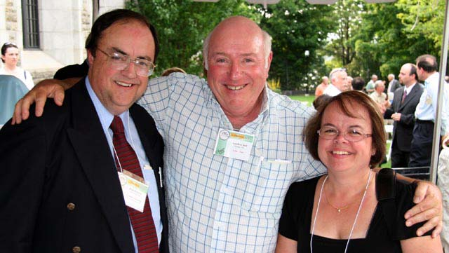 Paul Johnson, C.N.A. Executive Secretary, Geoff Bell, C.N.A. Past President, and Judi Gosling