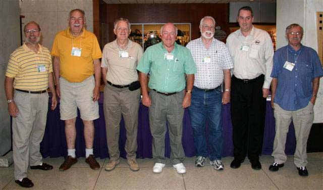 Exhibit Judges Tim Henderson, Phil Carrigan, Ted Leitch, Geoff Bell, Graham Esler, James Williston and Dick Dunn