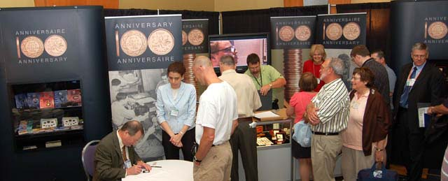 the Royal Canadian Mint booth