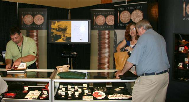 Michel Gauthier and Christine Paquet at the Royal Canadian Mint
