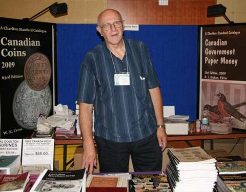 John Regitko at The Charlton Press booth