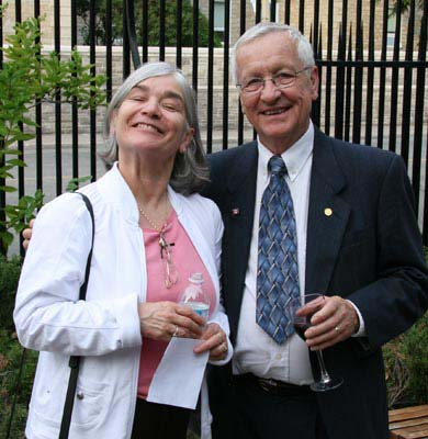 Geraldine Chimirri-Russell, C.N.A. Area Director and Ray Neiman