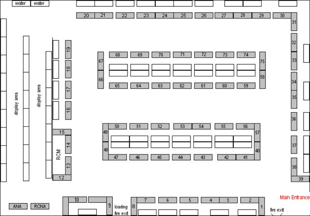2009 C.N.A. Convention Ottawa Bourse Floor Plan