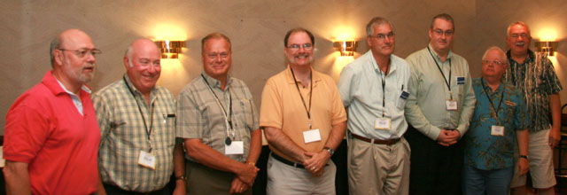 2009 RCNA Exhibit Judges Tim Henderson, Geoff Bell, Len Buth, Paul Berry, Bill Kamb, James Williston, Rick Craig and Phil Carrigan