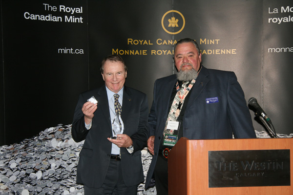 Presidential Award Ian Bennett, President, Royal Canadian Mint